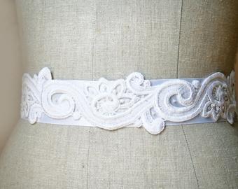 Lace Bridal Sash, Wedding Belt, Wedding Accessories