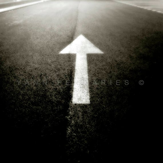 White arrow photography, Black and white photography, Direction print, Geometric, Arrow photography, Travel photography