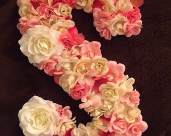 Floral Wood Letter