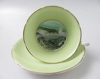 Royal Grafton Fine Bone China Niagara Falls, Canada Cup and Saucer, Made in England