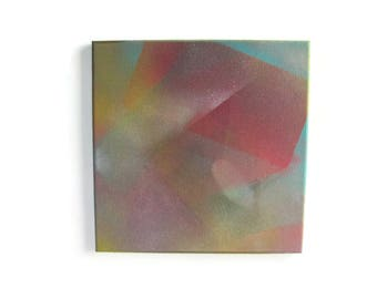 SUPERMAN 12 x 12 Original Painting - Housewarming Gift - Nursery Decor - Modern Art - Abstract Painting - Spray Paint Painting - Geometric