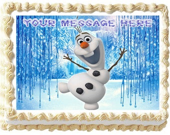 OLAF Edible cake topper party image