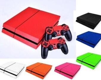 Texture carbone peau PS4 Playstation 4 Sticker autocollant Wrap vinyle accessoires