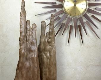 Mid Century Organic Root Wood Cypress Wood Knee Sculptures Set of Two
