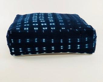 Decorative Pouf // Ottoman // Floor Pillow // Mudcloth Floor Pillow // Mudcloth Ottoman // Indigo Mudcloth