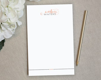 Personalized Notepad. Personalized Note Pad. Personalized Stationery. Stationary. Personalized Gift. Custom. Office. To Do List. Billow.