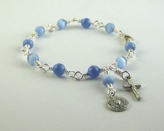Beautiful Blue First Communion Bracelet
