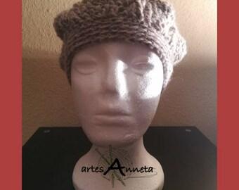 Crochet Brown Beanie for women
