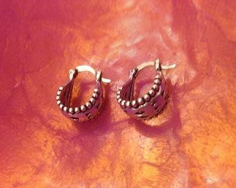 Small Tribal hoop earrings