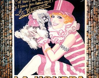 Houpa La Houppa Vintage Entertainment Ad, Vintage Fashion Art, Fashion Ad, Poodle Art, Vintage Art, Giclee Art Print, fine Art Reproduction