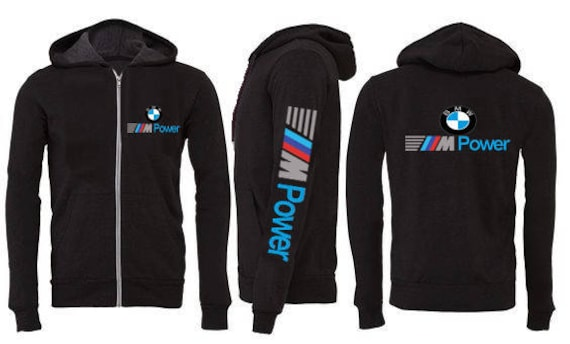 mens bmw m power hoodie sweatshirt thin sport jacket. Black Bedroom Furniture Sets. Home Design Ideas