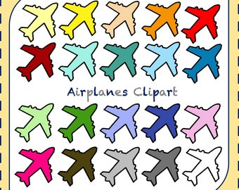 50% OFF SALE! Airplane Clipart, Planes Clipart, Pilot Clipart, Aircraft Clipart, Airplanes, Travel Clipart, Transportation Clipart, Jet