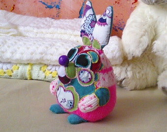 Hand knitted bunny toy - soft toy, plush toy ,stuffed toy
