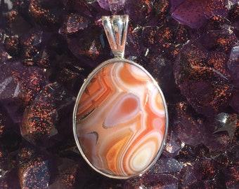 Lake Superior Agate pendant