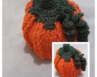 Crocheted Pumpkin Hat, Pumpkin Photo Prop, Pumpkin Hat, Thanksgiving Hat, Fall Photoprop, Sherrysuniquecrochet, Baby Pumpkin Hat, Pumpkin