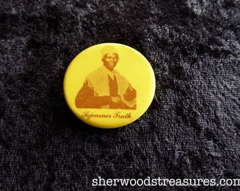 Sojourner Truth Women's Rights Cause Vintage Orig 1970's Pinback Button Pro Choice 1 1/2""