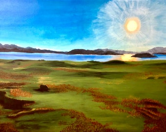 Thingvellir Vista - Iceland Landscape Painting