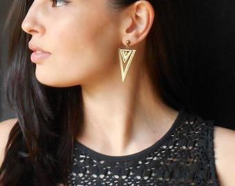 Geometric Earrings, Tribal earrings, Dangle Drop earrings