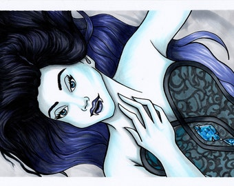 Vampire Girl Illustration, Print