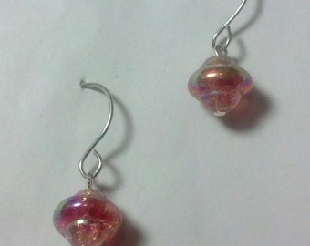 Pink Bohemian glass with AB finish