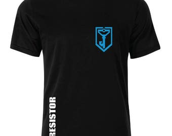 Ingress Resistance Logo With Name T-Shirt - available in many sizes and colors