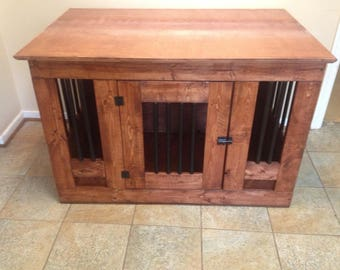 wooden dog crate furniture. Wooden Dog Crate End Table Furniture