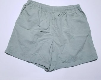 Erika Vintage Light Olive Green Pocket Shorts PXL