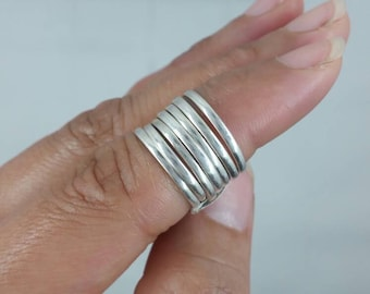 Sterling Silver Stacked Ring