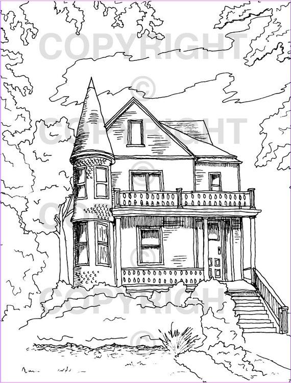 Buffalo Architecture Coloring Book Allentown Building Drawings