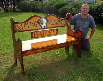 Adult size Pet memorial bench