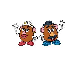 Set of 4 Mr. & Mrs. Potato Head Die Cut, Toy Story Die Cut