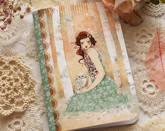 Illustrated notebook - Mademoiselle Snow