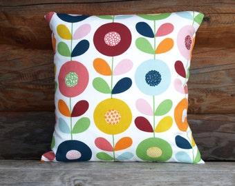 Decorative Pillow cover white bright Flowers Floral Decorative Cotton pillow Scandinavian Design Throw pillows Floor Cushions Accent Pillows