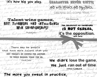 Sports Quotes Printable Digital About Word Art