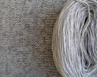 DOVE SILK HEATHER -- Sport Weight -- Silk/Cotton/Merino yarn (100 gr /320 yards)