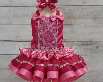Princess Dress,  Princess First Birthday Outfit, First Birthday Outfit Girl, Pink Princess Dress, Princess Costume