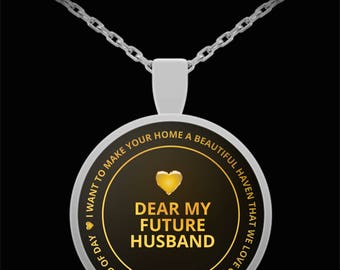Gift for Boyfriend - Gold Necklace - Silver necklace - Necklace Gift - Sentimental Gift for Boyfriend - Special Couple Gift (round pendant)