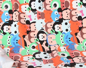 Pretty TSUM pattern Elastic cotton soft  Fabric 50*160 cm cotton knit DIY fabric 1/2y