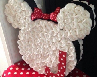 Minnie Mouse / Mickey Mouse diaper centerpiece