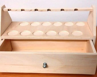 Wooden hand made pipe holder with drawer for exhibition Idea Gift