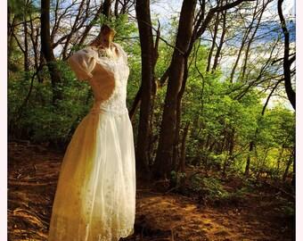 Vintage Ethereal Wedding Dress               International Shipping