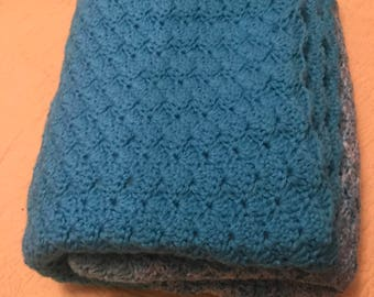Turquoise Striped Blanket