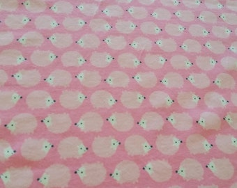 Hedgehog jersey knit, novelty print, nursery fabric, stretch knit, Width 58 inches, length 32 inches, .89 yard