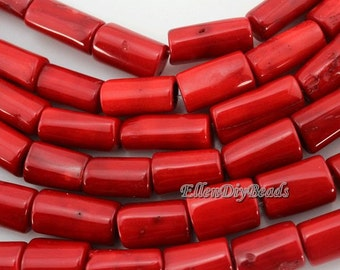 High Quality  coral beads,One Full Strand,Coral Beads,Red Coral Beads,RED Stone,Gemstone Beads---about -10*20mm---16 inches--BC019
