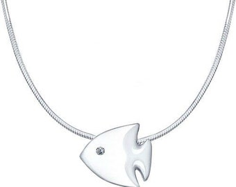 SOKOLOV - Little Fish Necklace - Silver 925 With Diamond Eye