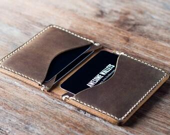 Wallet, Leather Wallet, Card Wallet, Mens Wallet, Womens Wallet, Minimalist Wallet, Handmade Gift Idea - #010