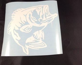 Bass Fish Decal 4x4