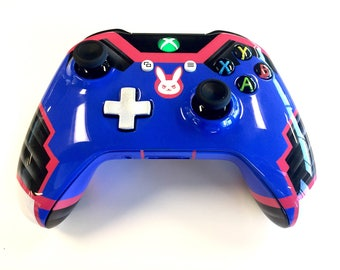 Custom Painted Overwatch D.VA Suit Xbox One Wireless Controller S 3.5mm [Bluetooth]