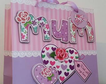 """Large box """"Mum"""" MOM gift, mothers day"""
