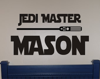 Star Wars Jedi Master Decal - Star Wars Decal - Star Wars Wall Decal - Star Wars - Star Wars Bedroom - Star Wars Decor
